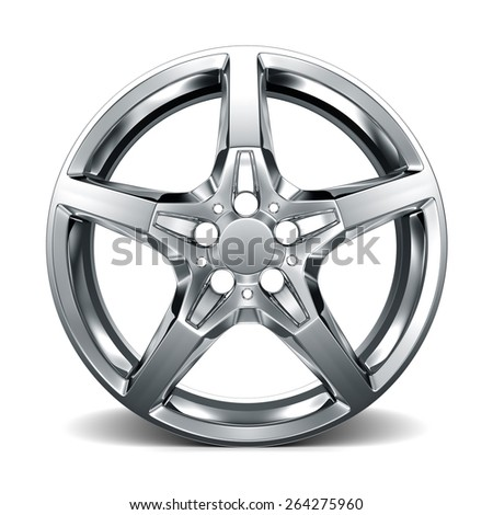 Isolated wheel rim on white - stock photo