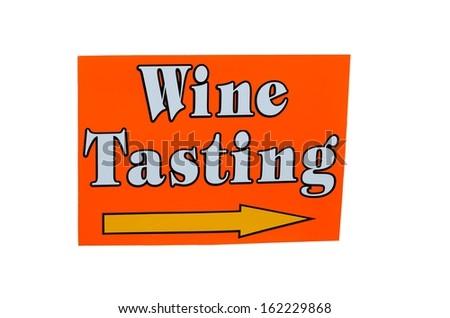 Isolated wine tasting sign - stock photo