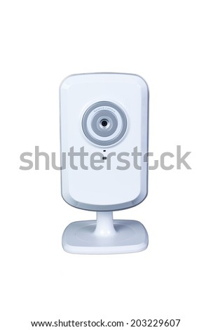 Isolated with the in front of Network Camera, ip camera