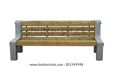 Isolated wooden brown branch with granite side - stock photo