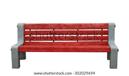 Isolated wooden red branch with granite side - stock photo