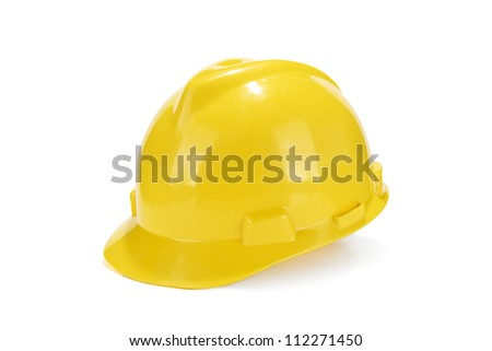 Isolated yellow helmet