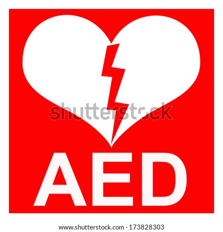 Isolation Red Aed Symbol Indicate That Stock Illustration 173828303