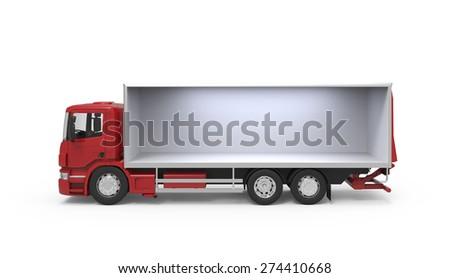 Isolation truck on white background