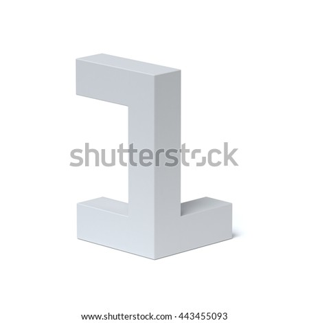 Isometric font number 1 3d rendering