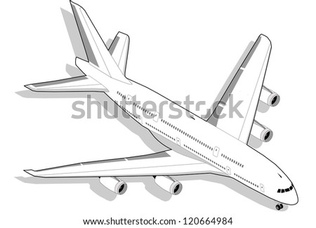 Isometric White Airplane