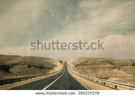 Israel Landscape - stock photo