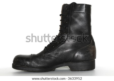 Israeli army boot, isolated