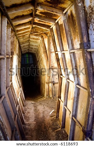 Israeli defense bunker tunnel - stock photo