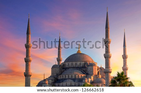 Istanbul - Blue mosque, Turkey - stock photo