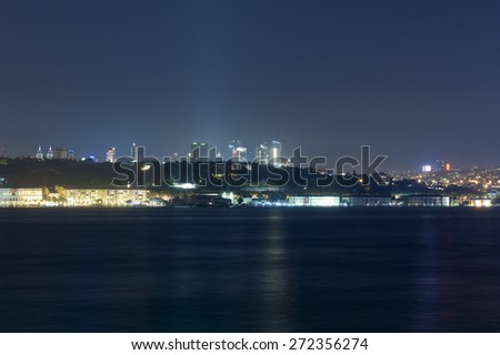 Istanbul by night - stock photo