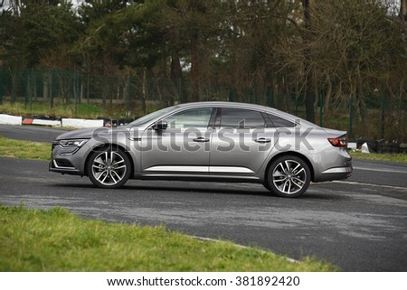 ISTANBUL - FEBRUARY: the new middle-class representative of the Renault Talisman February 2016 in Istanbul. French car brand
