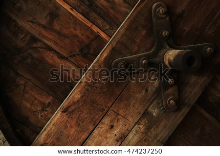Istanbul Industrial interior old factory wooden detail
