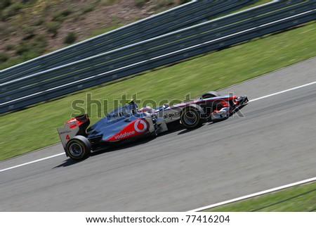 ISTANBUL - MAY 07: Jenson Button drives a McLaren Mercedes team car during qualifying for F1 Turkish Grand Prix, Istanbul Park on May 07, 2011 Istanbul, Turkey