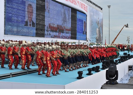 ISTANBUL,MAY 30: The 562th anniversary of Istanbul Conquest was marked with many events. Ottoman army band performed a show on May 30,2015 in Istanbul,Turkey