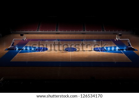ISTANBUL - NOVEMBER 10: Abdi Ipekci Arena on November 10, 2009 , formerly known as Abdi Ipekci Sports Complex, is a multi-purpose indoor arena located in the Zeytinburnu district of Istanbul, Turkey, - stock photo