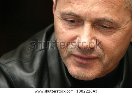 ISTANBUL, TURKEY - APRIL 25: Famous Serbian former football player and manager Cevad Prekazi on April 25, 2006 in Istanbul, Turkey. He spent the majority of his professional career with Galatasaray.