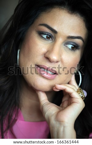 ISTANBUL, TURKEY - APRIL 29: Famous Turkish actress, writer, thespian, television and movie star Iclal Aydin portrait on April 29, 2011 in Istanbul, Turkey. - stock photo