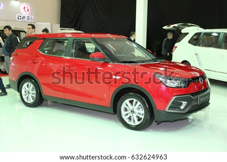 Istanbul Turkey April 22 2017 Ssangyong Stock Photo 632624963