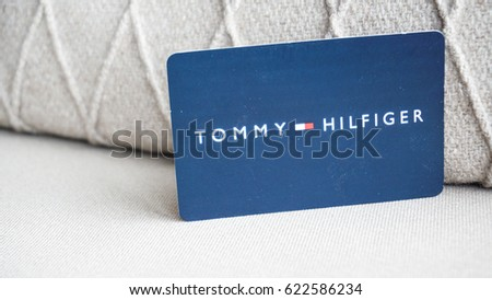 Istanbul, Turkey - April 17, 2017: Tommy Hilfiger card and box.