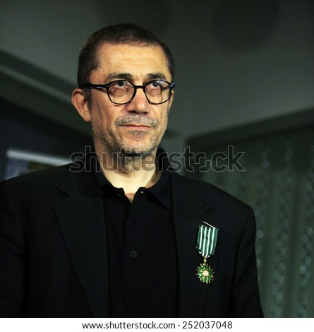 ISTANBUL, TURKEY - APRIL 12: Turkish film director and producer Nuri Bilge Ceylan portrait on April 12, 2011 in Istanbul, Turkey.He was the winner of the Palme d'Or at the Cannes Film Festival in 2014 - stock photo