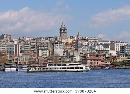 ISTANBUL , TURKEY- April 4,2015- View to Istanbul