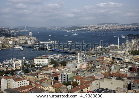 Istanbul,Turkey - August 28,2008 : General view of Istanbul.