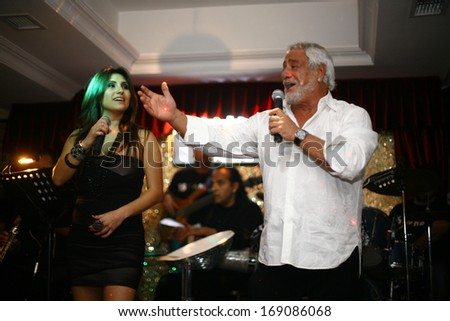 ISTANBUL, TURKEY - DECEMBER 3: Famous Greek descent Turkish musician and singer Fedon on December 3, 2010 in Istanbul, Turkey.