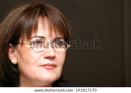 ISTANBUL, TURKEY - DECEMBER 25: Turkish politician and former Minister of the Interior Meral Aksener on December 25, 2007, Istanbul, Turkey. She is currently a vice-speaker of the parliament.