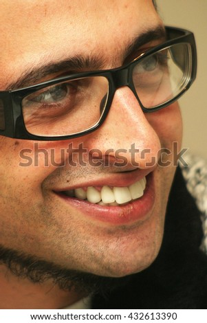 ISTANBUL, TURKEY - FEBRUARY 18: Famous Turkish singer and actor and television star Ragga Oktay portrait on February 18, 2007 in Istanbul, Turkey. - stock photo
