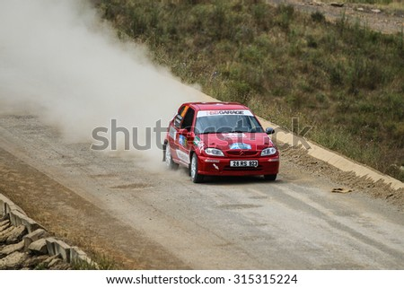 ISTANBUL, TURKEY - JULY 25, 2015: Burak Baslik drives Citroen Saxo in Bosphorus Rally 2015, Deniz stage