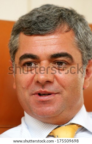 ISTANBUL, TURKEY - JULY 14: Famous Turkish businessman, banker and Denizbank General Manager Hakan Ates portrait on July 14, 2006 in Istanbul, Turkey.