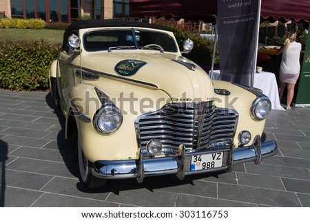 ISTANBUL, TURKEY - JUNE 14, 2015: A Buick Car in Istanbul Concours d'Elegance. Concours d'Elegance referring to the gathering of prestigious cars over 100 years.