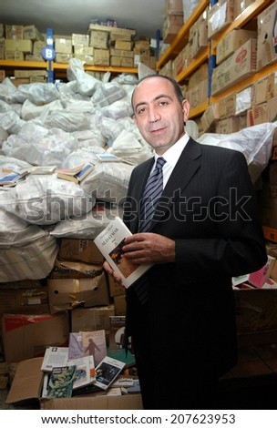 ISTANBUL, TURKEY - MARCH 19: Famous Turkish politician Gursel Tekin portrait on March 19, 2006, Istanbul, Turkey. Gursel Tekin is vice-president of Republican People's Party (Turkish: CHP)