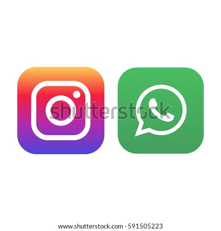 Istanbul, Turkey - March 2, 2017: Whatsapp and Instagram logos printed on paper.