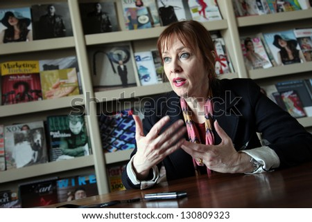 ISTANBUL, TURKEY - MAY 22: American singer, songwriter and record producer Suzanne Vega at press meeting on May 22, 2012 in Istanbul, Turkey. Suzanne Vega's genres is alternative rock and folk-rock.