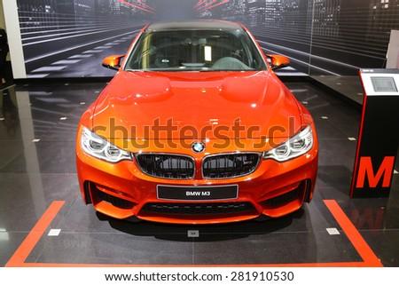 ISTANBUL, TURKEY - MAY 21, 2015: BMW M3 in Istanbul Autoshow 2015 - stock photo
