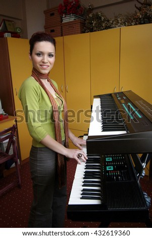 ISTANBUL, TURKEY - MAY 11: Turkish singer Sebnem Paker portrait on May 11, 2006 in Istanbul, Turkey. She represented Turkey in the Eurovision Song Contest 1996 and she achieved a 3rd-place result. - stock photo