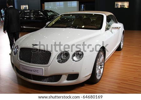 ISTANBUL, TURKEY - NOVEMBER 07: Bentley Continental GTC at 13th International Auto Show on November 07, 2010 in Istanbul, Turkey.
