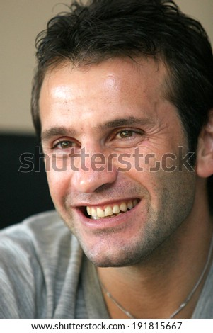 ISTANBUL, TURKEY - NOVEMBER 14: Famous Turkish former football player and manager Okan Buruk on November 14, 2007 in Istanbul, Turkey. He also won 56 caps with the Turkey national football team.