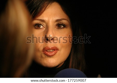 ISTANBUL, TURKEY - NOVEMBER 1: Famous Turkish musician and singer Nilufer portrait on November 1, 2005 in Istanbul, Turkey.