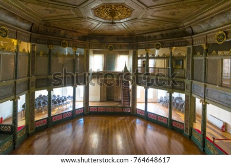 Istanbul, Turkey - November 24, 2017 :  Galata Mevlehihane museum view in Istanbul.  Istanbul is popular tourist destination in Turkey.