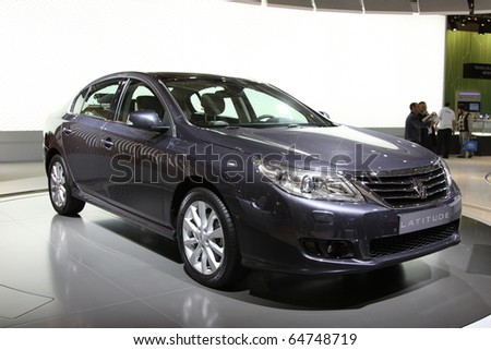 ISTANBUL, TURKEY - NOVEMBER 07: Renault Latitude at 13th International Auto Show on November 07, 2010 in Istanbul, Turkey. - stock photo