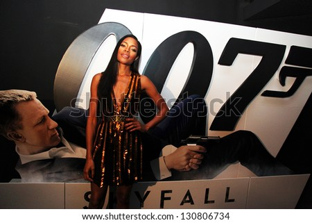 ISTANBUL, TURKEY - OCTOBER 30: Famous English actress Naomie Harris at the 23rd James Bond film Skyfall's Istanbul Premiere on October 30, 2012 in Istanbul, Turkey. Harris playing Eve Moneypenny. - stock photo