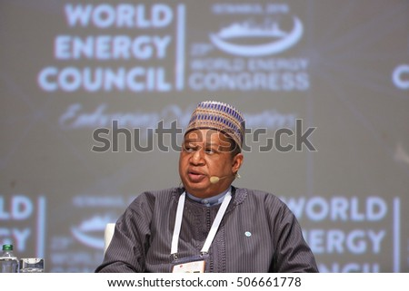 ISTANBUL, TURKEY - OCTOBER 10: Nigarian businessman and OPEC Secretary General Mohammad Barkindo portrait at the 23rd World Energy Congress on October 10, 2016 in Istanbul, Turkey.