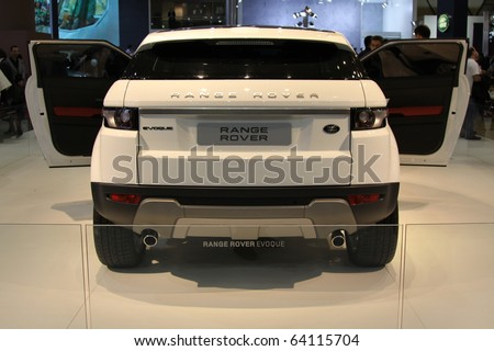 ISTANBUL, TURKEY - OCTOBER 30: Range Rover Evoque at 13th International Auto Show on October 30, 2010 in Istanbul, Turkey. - stock photo