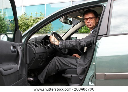 ISTANBUL, TURKEY - SEPTEMBER 3: Famous French businessman, politician and former Renault CEO Louis Schweitzer portrait on September 3, 2005 in Istanbul, Turkey. - stock photo