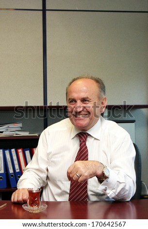 ISTANBUL, TURKEY - SEPTEMBER 28: Istanbul Metropolitan Municipality Mayor, politician and architect Kadir Topbas portrait on September 28, 2006 in Istanbul, Turkey.