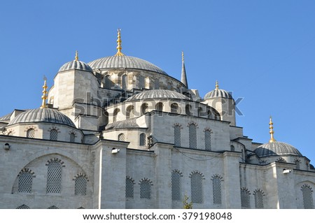 Istanbul, Turkey, Sultanahmet mosque (Blue mosque) in Istambul - stock photo