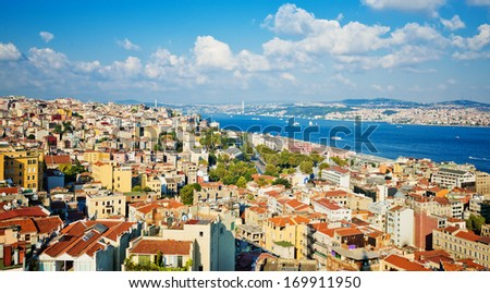 Istanbul View from Galata tower  - stock photo